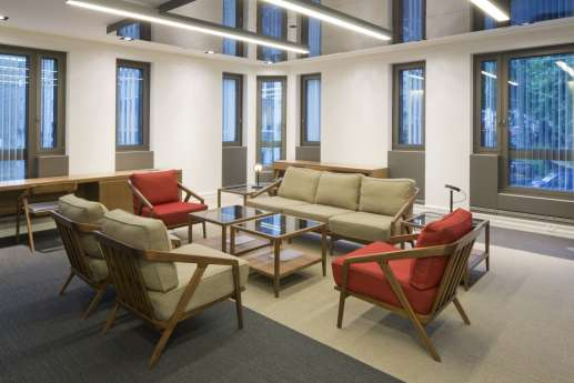 Wooden furniture in modern office fit out