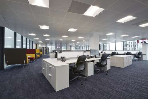 Workstations in new office fit out in Bristol