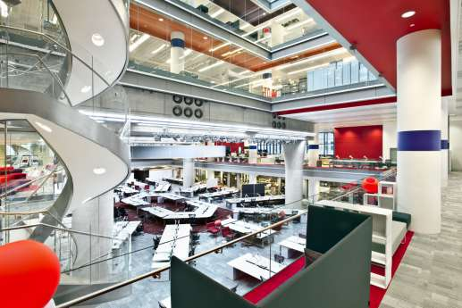 Open plan office fit out in central london