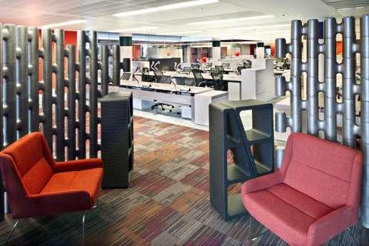 Funky orange office furniture