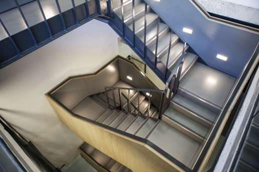 Staircase in modern, warehouse style fit out