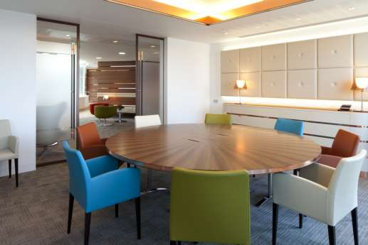 Meeting room in fit out for London law firm