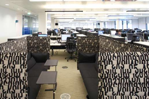 Private meeting areas and workstations
