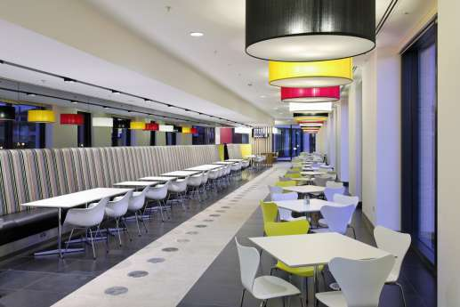 Colourful seating in office fit out