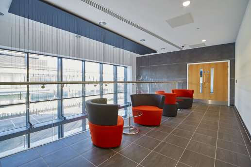Open plan meeting area