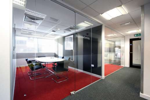 Meeting room in HSBC retail bank fit outs