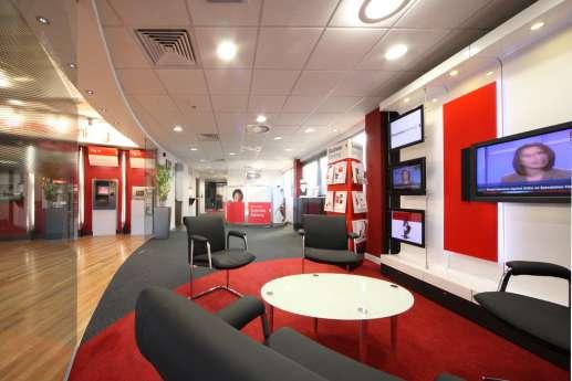 Branch seating in HSBC branch
