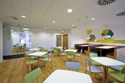 Relaxed seating in office fit out