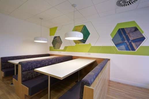 Relaxed seating in Nottingham staff offices