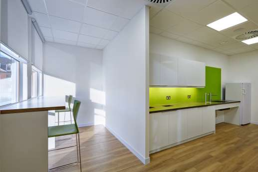 Office kitchen in Nottingham office fit out