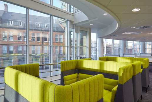 Private booths in office fit out