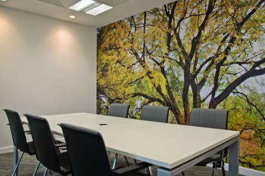 Natural wall art in modern office fit out