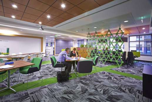 Staff breakout area in funky office fit out