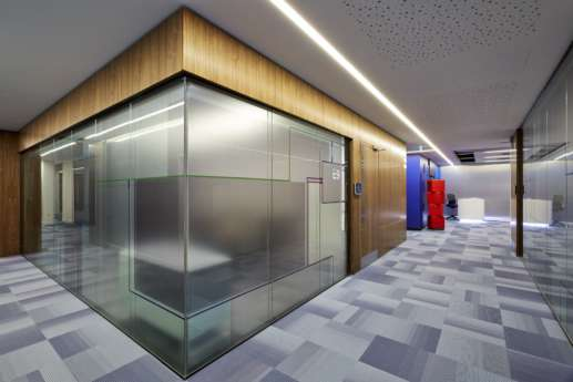 Private meeting rooms in a modern Warwick office fit out