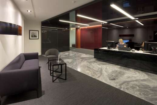 Reception in modern office fit out