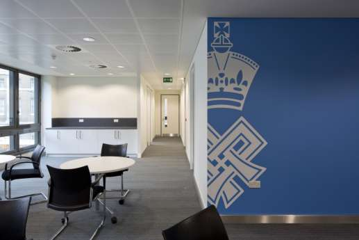 Wall detailing in designer office fit out