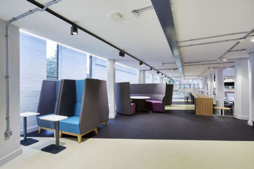 High-backed chairs in University of Birmingham offices