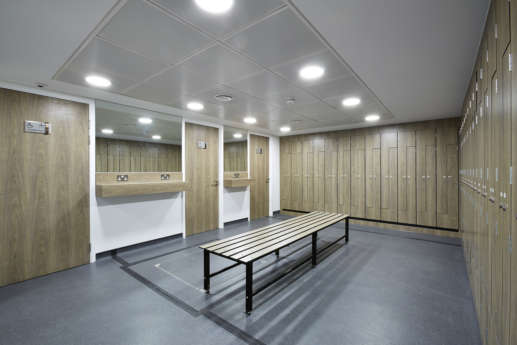 Changeroom for staff in office space