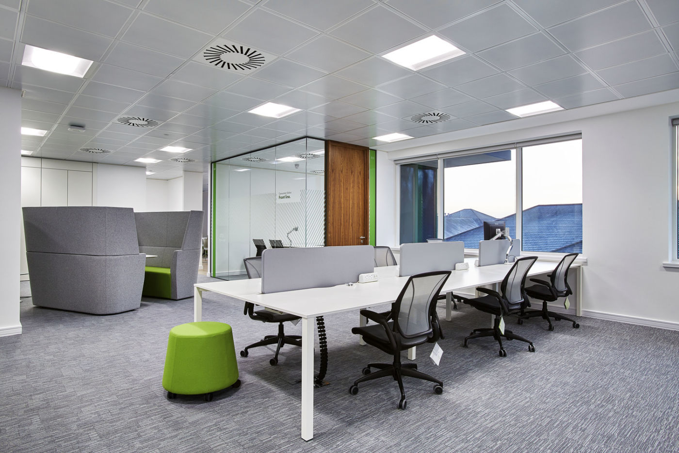 Workstations in Goodyear office fit out