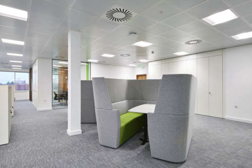 Fit out with fabric meeting pods