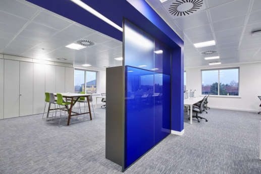 Feature wall in modern Birmingham office