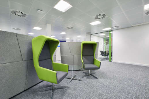 Fabric solo chairs in Birmingham fit out