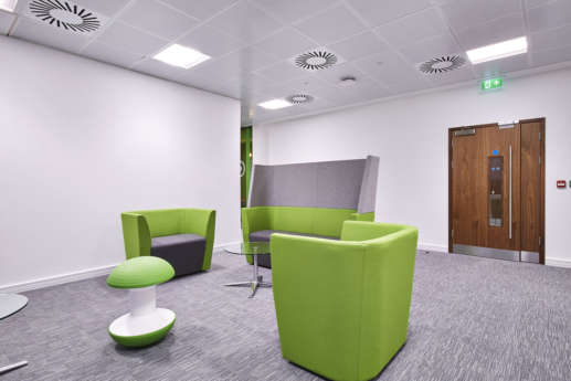 Funky green office furniture