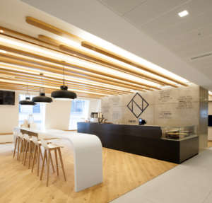 Coffee bar in modern office fit out
