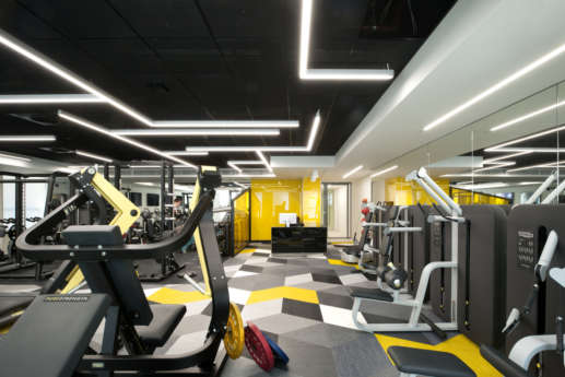 High-spec modern office gym and fitness facilities