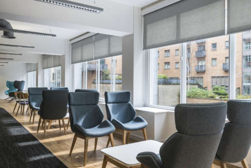 Modern furnishings in bright Manchester office