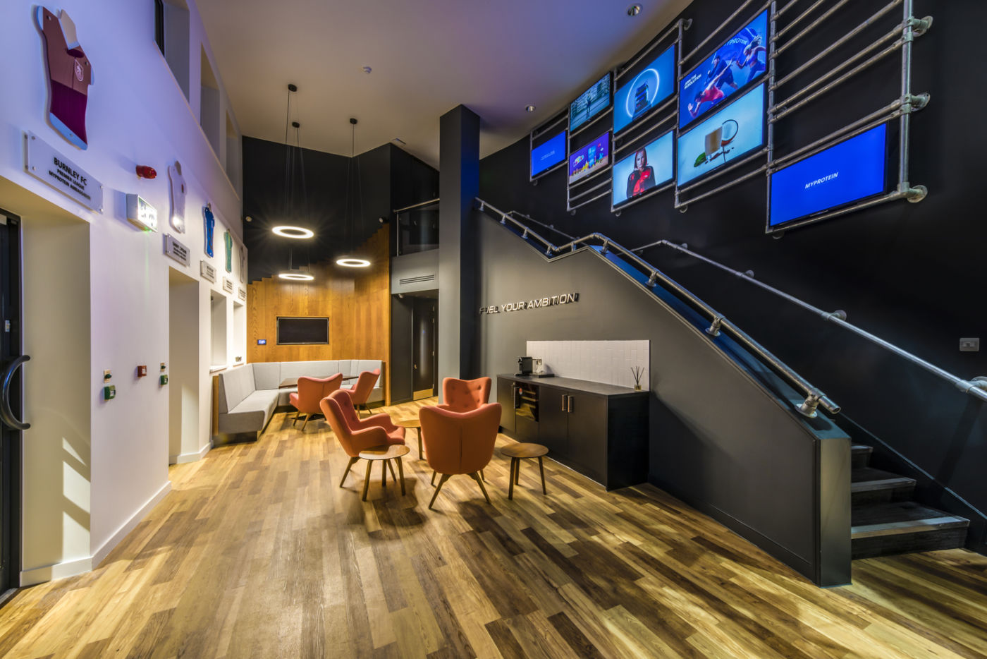 Office reception with wooden floorboards