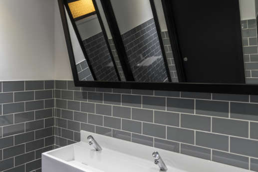 Modern bathroom in office fit out