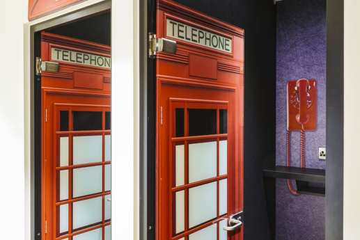 Phone boxed themed calling booths