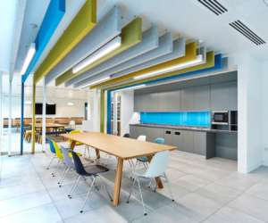 Modern office kitchen in legal firm
