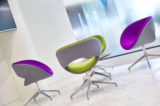 Colourful and relaxing office chairs