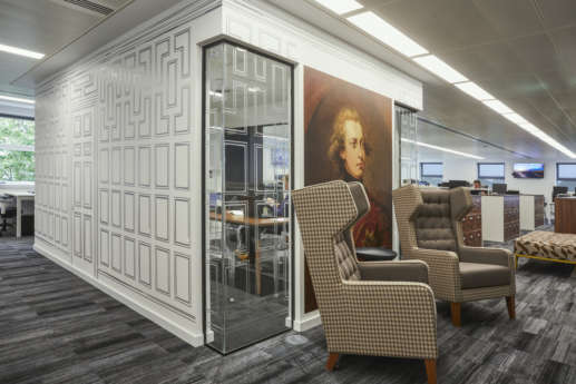 Old fashion themed office fit out