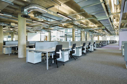 Bristol University open plan office fit out