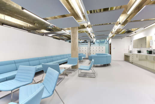 Bristol University staff seating in office fit out