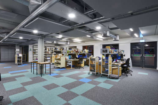 Flexible workstations at Bristol University