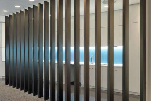 Designer room dividers in modern office