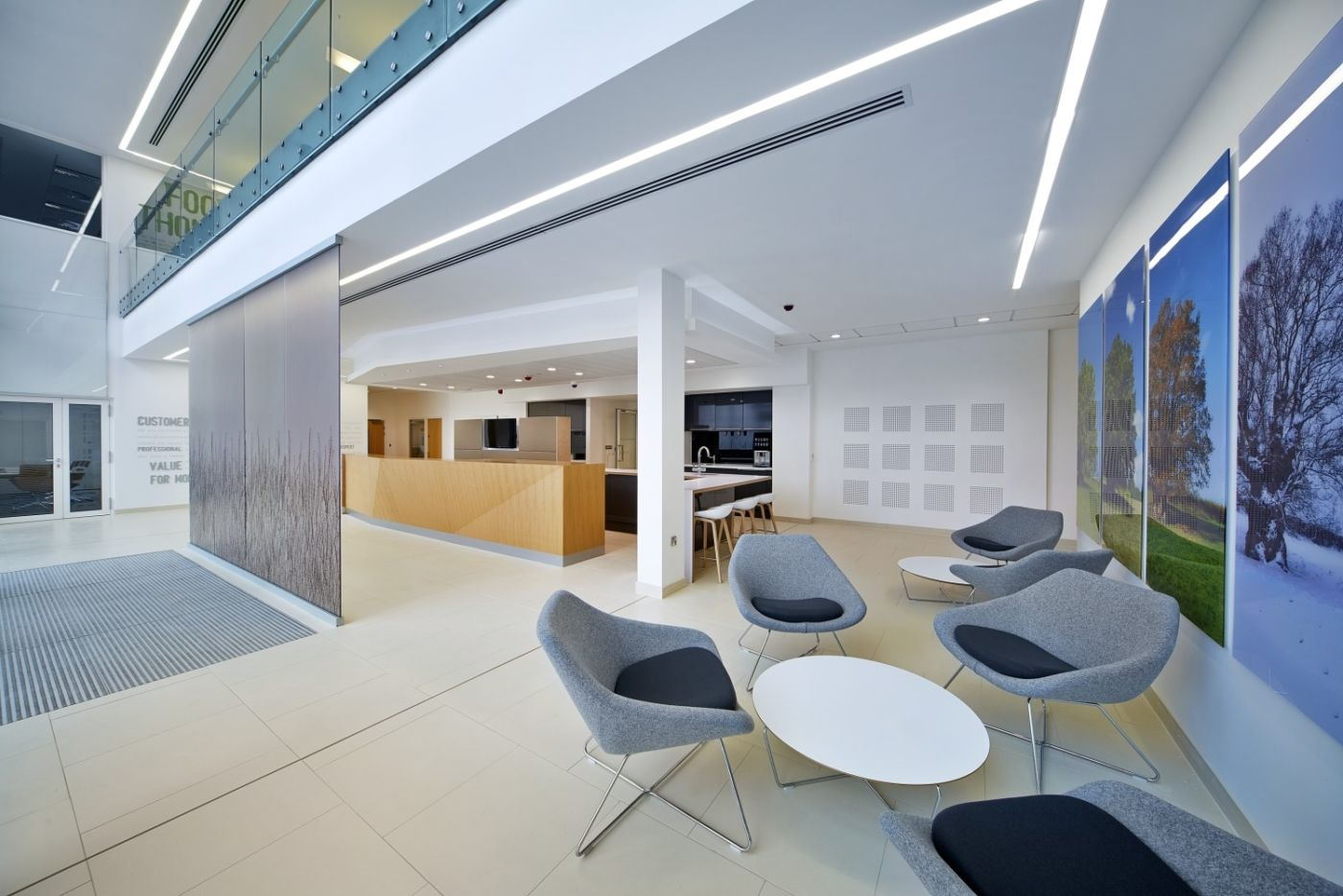 Seating in reception area