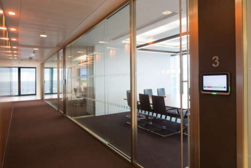 Smart meeting rooms in London office building