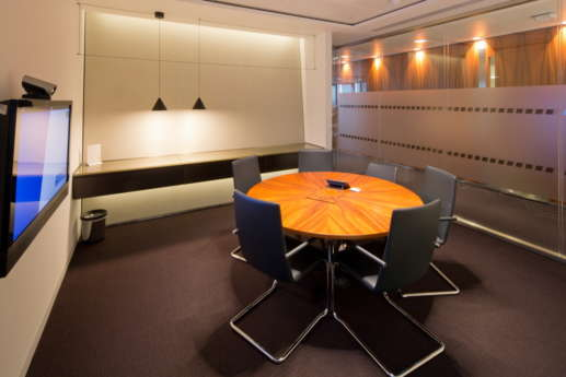 Meeting room in central London fit out