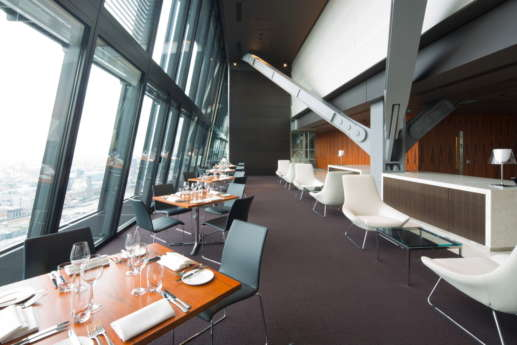 Dining area in second top floor of leadenhall building