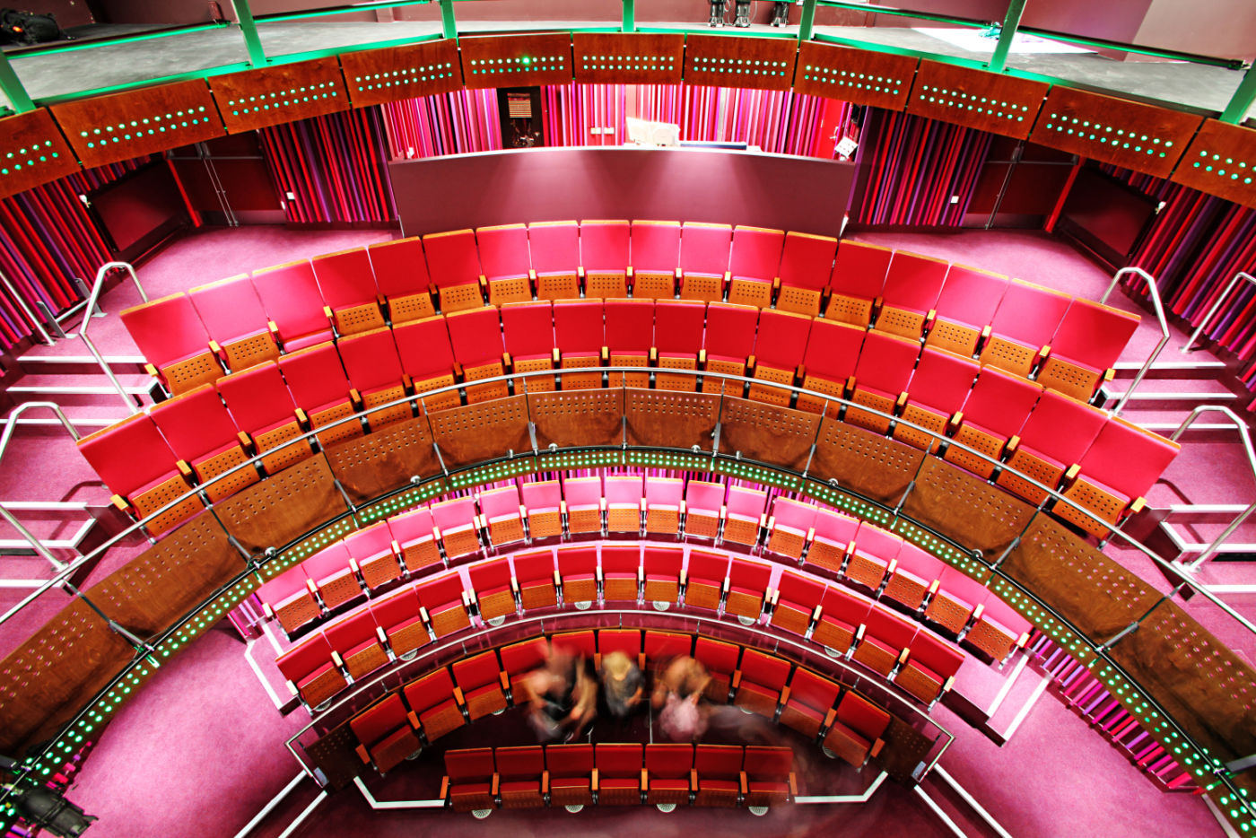 Overhead view of theatre seating