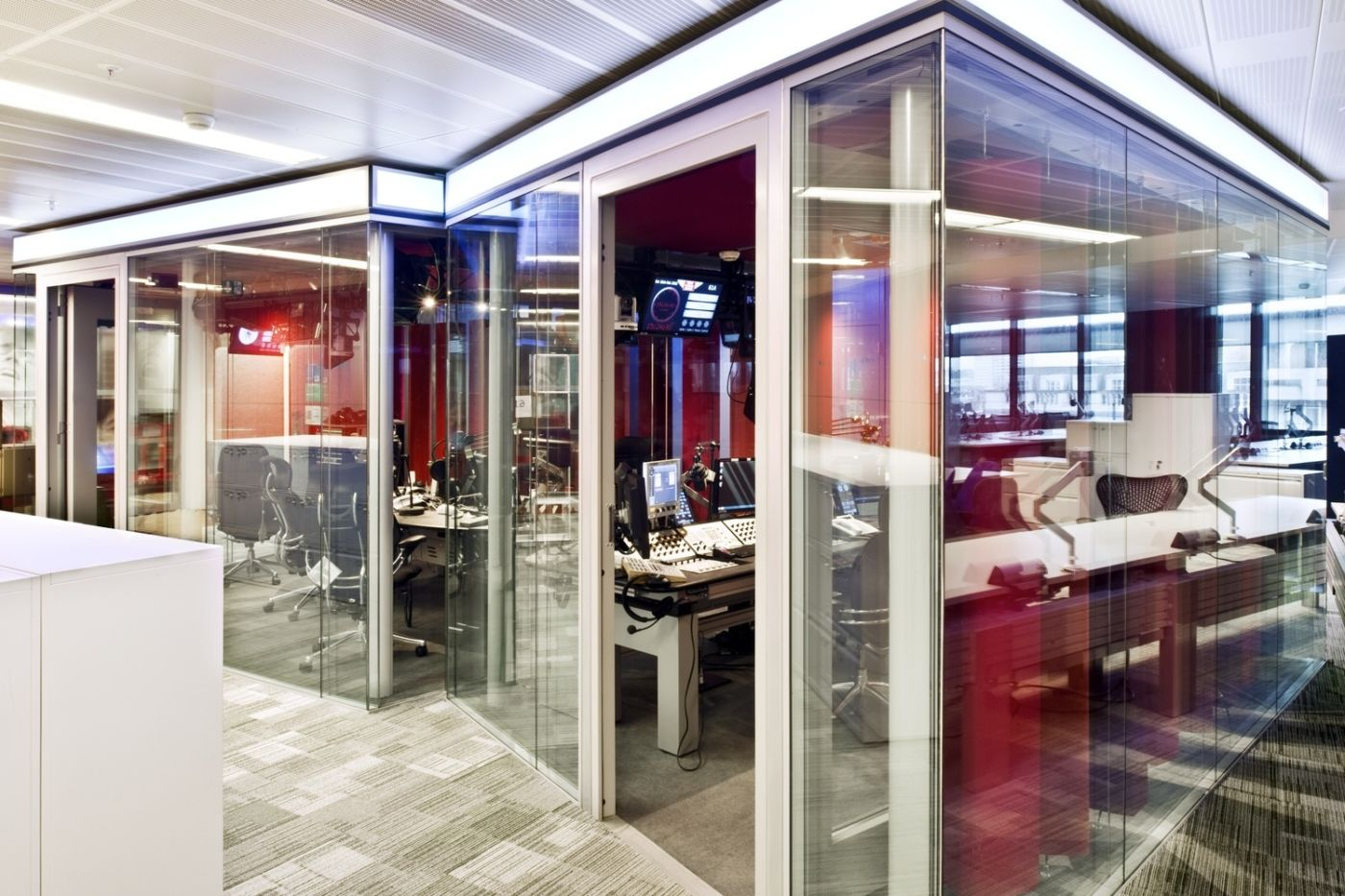 Sound proof recording rooms in BBC Broadcasting House
