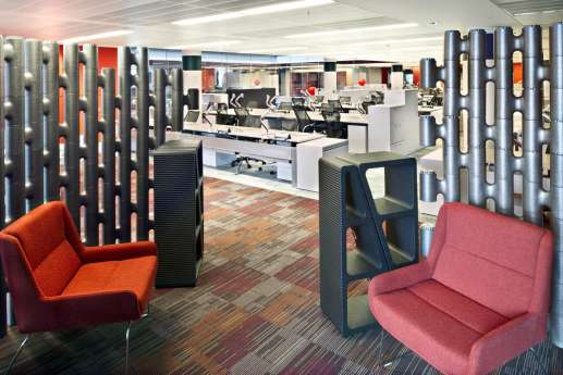 Funky orange office furniture