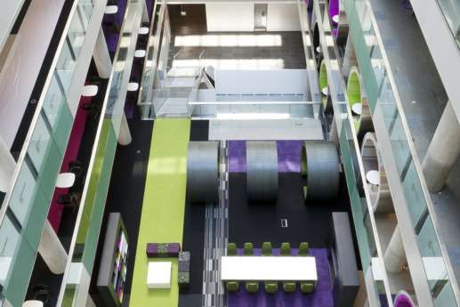 overhead view of office fit out