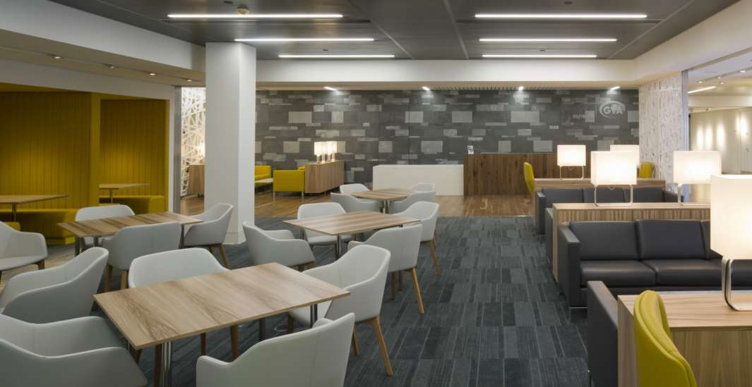 Modern office fit out with open plan seating