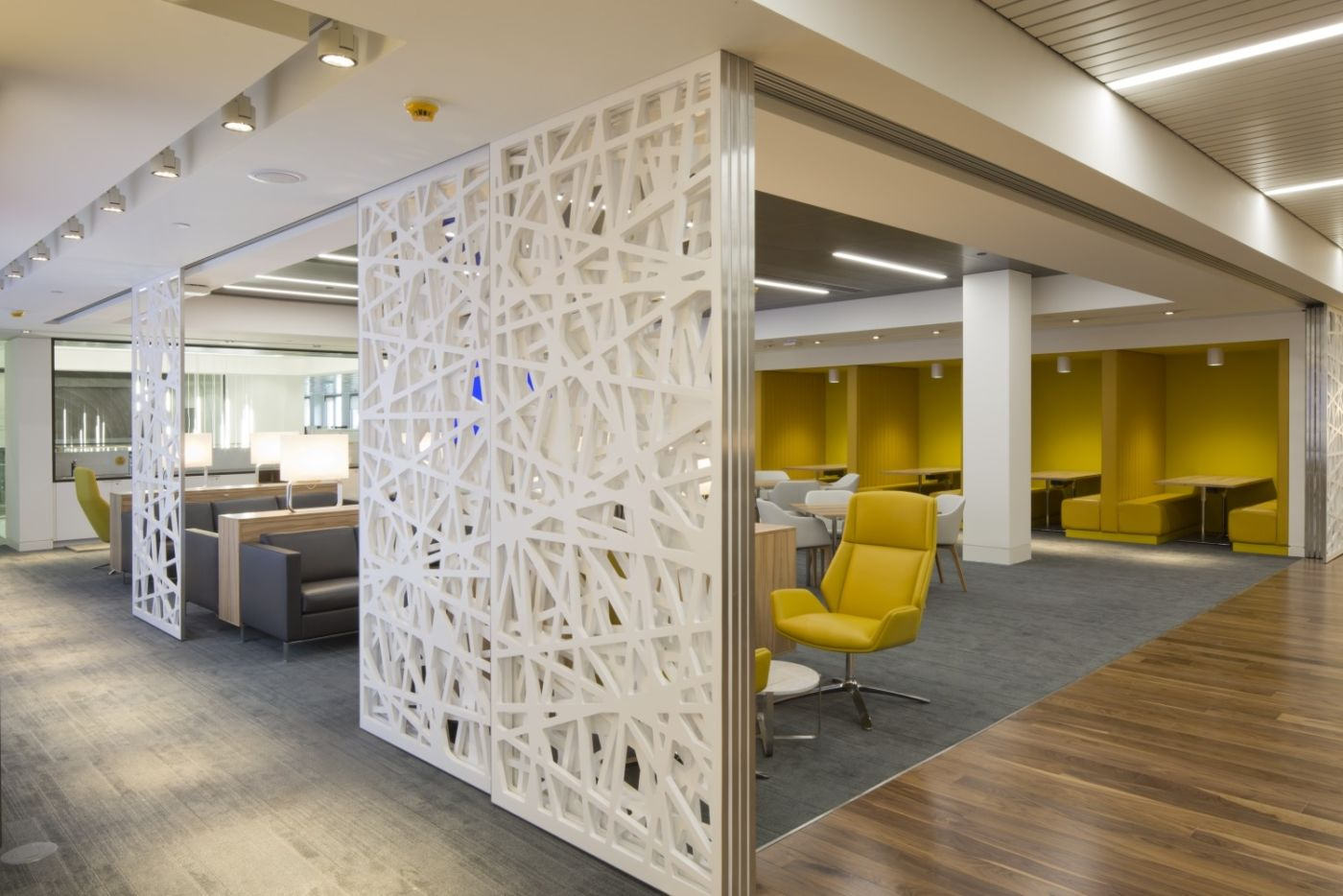 Modern office fit out with room dividers
